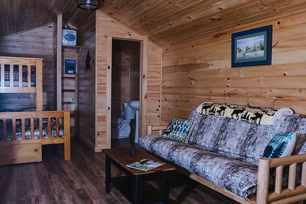 riverfront woodland cabin