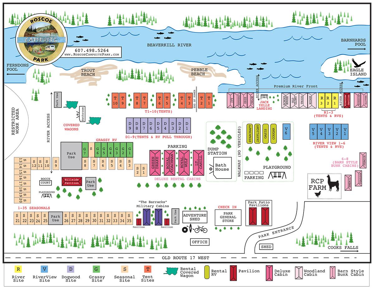 map of roscoe campsite park