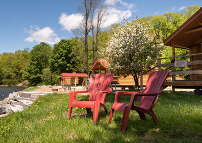 Riverfront cabin image